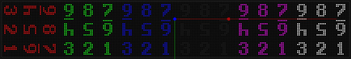 numbering to map LEDS in tile arrangement