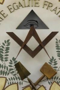 Équerre et compas, symboles de la franc-maçonnerie