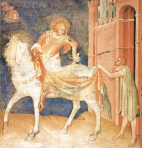 Détail de la fresque dite Vie de Saint Martin, de Simone Martini