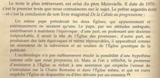 Père Meinvielle (tiré du livre De la Cabale au Progressisme, 1970)