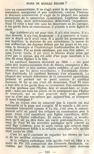 Jean Madiran dans son éditorial du Supplément-Voltigeur n.39 juin 1976 de la revue Itinéraires