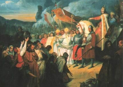 Ary Scheffer, Charlemagne reçoit la soumission de Widukind à Paderborn, (1840)
