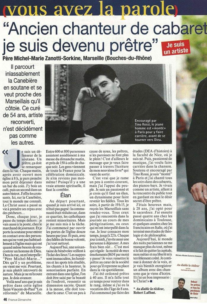France Dimanche du 19 avril 2013
