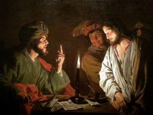 Christ devant Caïphe de Matthias Stom