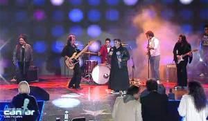 """""""Padre"""" Cesar Scicchitano avec son groupe Heavy metal « Les pécheurs »"""
