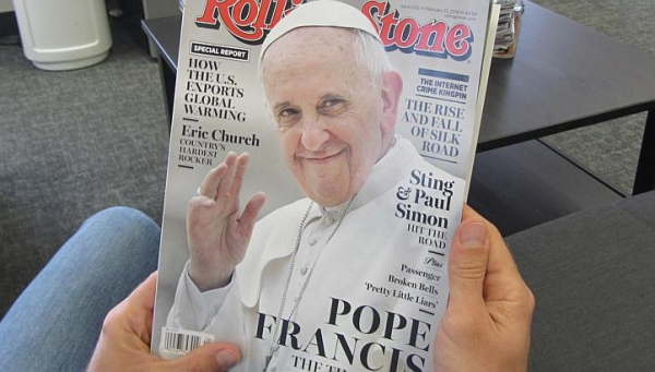 pope Francis, Rolling Stone cover. Crédit afp