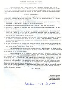Sodalitium n° 13, mars 1988 - « Amende Honorable Publique »