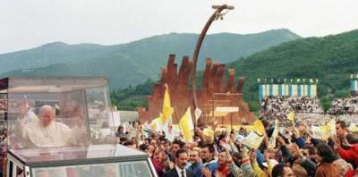 La visite à Brescia de l'antipape polonais Karol Wojtyla au centenaire de la naissance de Paul VI