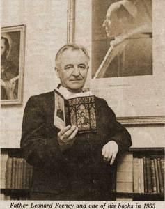 Father Leonard Feeney, 1953