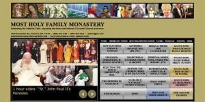 "Le site : ""mostholyfamilymonastery.com"""