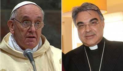 François & Semeramo, l'evêque secrétaire du C8 du Vatican