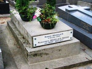 Robert Brasillach au cimetière de Charonne