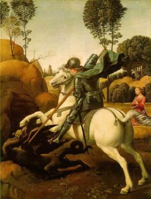 Saint Georges et le Dragon (Raphaël, National Gallery of Art)