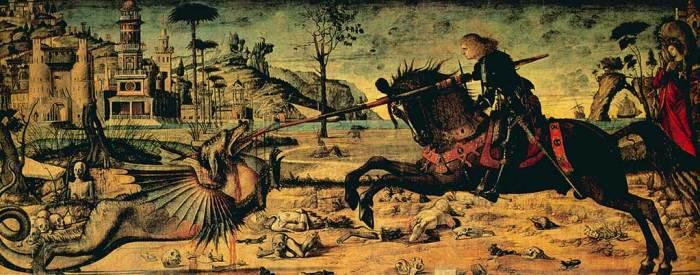 St Georges tuant le dragon