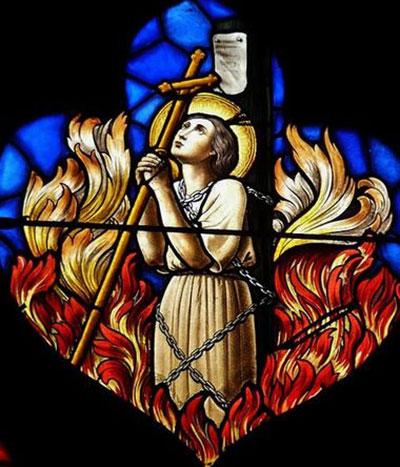 Supplice de Sainte Jeanne d'Arc