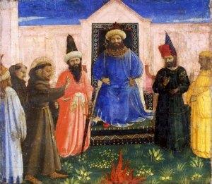 Saint François d'Assise rencontre le Sultan d'Égypte à Damiette