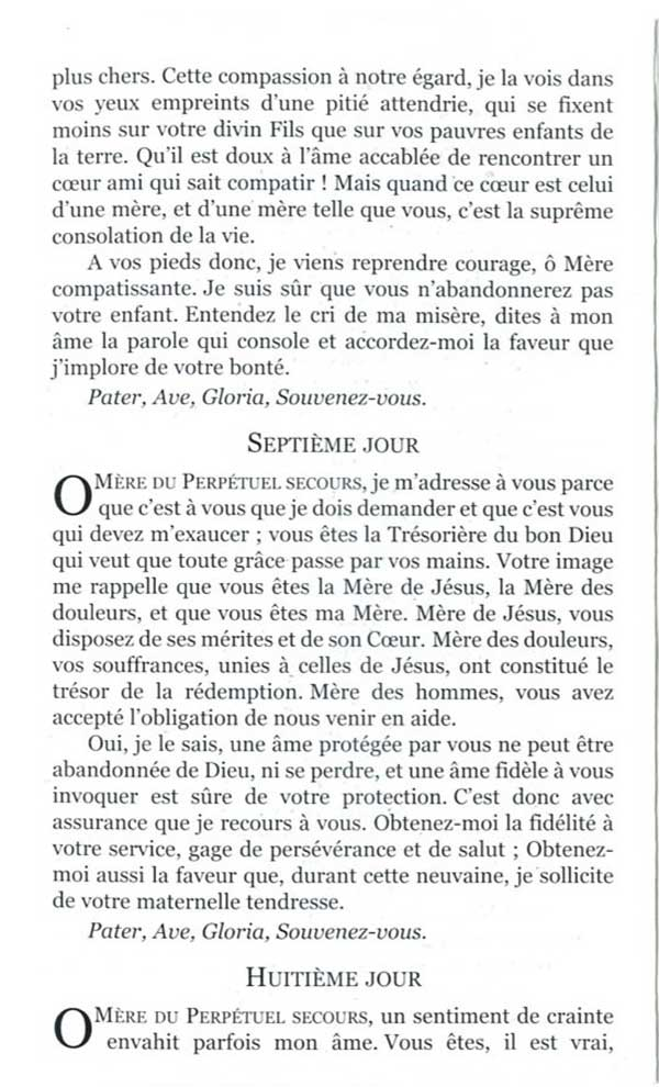Neuvaine à Notre-Dame du Perpétuel Secours 5