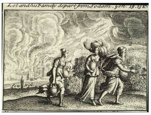 Wenceslas Hollar - Lot fleeing from Sodom