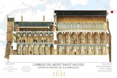L'abbaye gothique, communément appelée la Merveille.