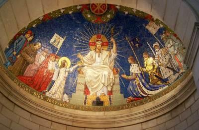 Le Christ Roy de Coupole de la Basilique de Domremy