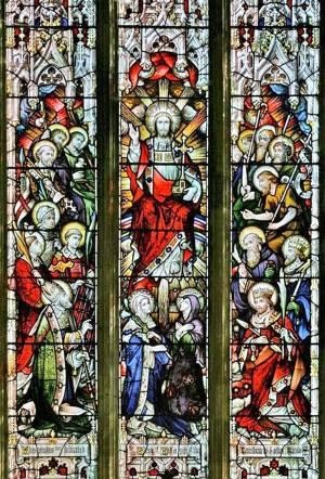 Le Christ en gloire entouré des saints