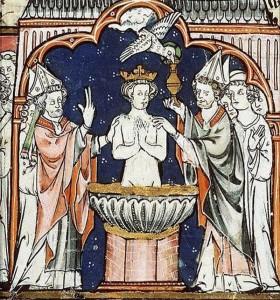 El bautismo de Clovis