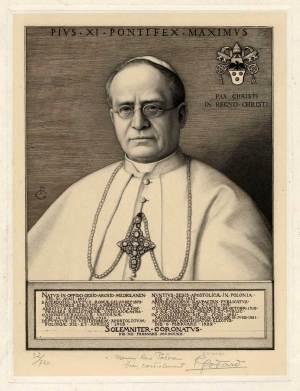 Portrait du Pape Pie XI par René Godard