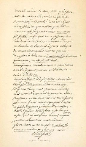 Fac Simile de l'Ecriture du V.S. de Dieu, Page 2
