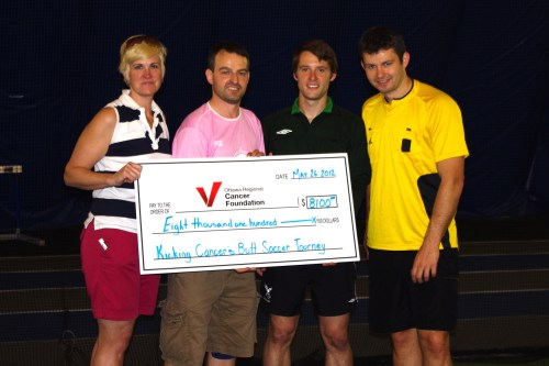 Kicking Cancer's Butt Cheque Presentation