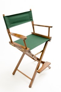 """24"""" Contemporary Series Chair - Walnut with Hunter Green Canvas"""