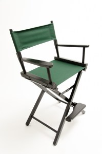 """24"""" Contemporary Series Chair - Black with Hunter Green Canvas"""