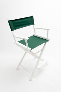 """24"""" Classic Series Chair - White with Hunter Green Canvas"""
