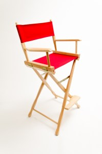 """30"""" Classic Series Chair - Natural with Red Canvas"""