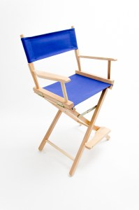 """24"""" Commercial Series Chair - Natural with Royal Blue Canvas"""