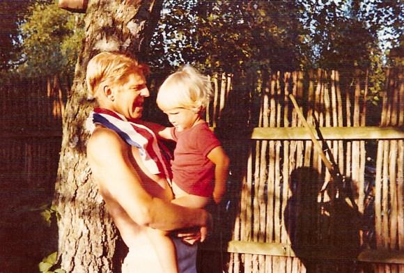 Morfar og meg, sommeren 1975
