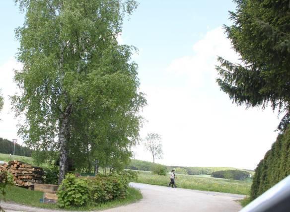 Vom Inneringer Wohngebiet Dullenberg aus werden die Windräder im Gelände oberhalb der Spaziergänger zu sehen sein. ARCHIVFOTO: IGNAZ STÖSSER