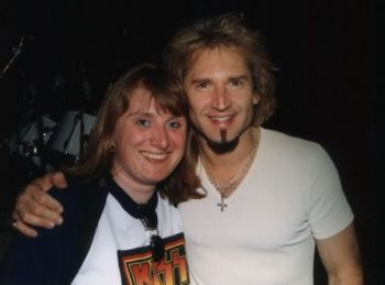 ...with Eric Singer (dr), May, 21st 1998, KISS Expo, Hanau