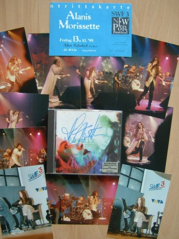 signed jagged little pill album and some of my live photos