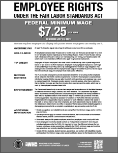 FLSA Minimum Wage Poster