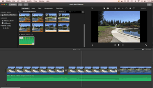 Scenic Walk Slideshow Project in iMovie
