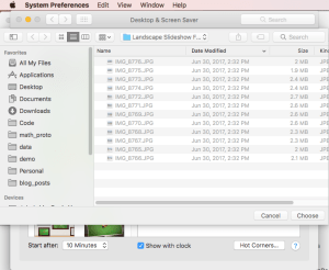 Choosing Slideshow Images from Folder in Screen Saver