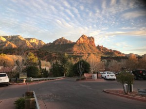Sedona Shortly Before Sunset on Dec 31, 2017