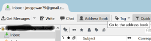 Address Book Button in Thunderbird