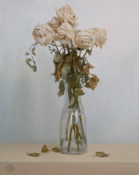 Beauty and Art, a philosophy. Dead Roses, oil painting by Kate Sammons