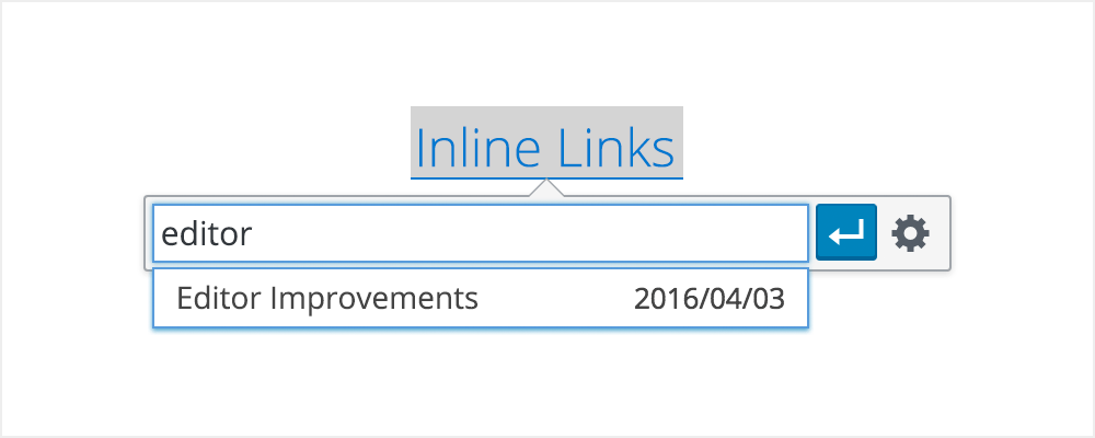 Inline links with WordPress