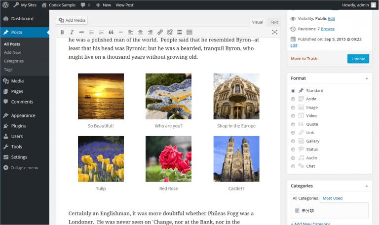 wordpress rename blog url
