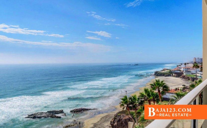 Oceanfront Condo For Sale in Las Olas, Rosarito Beach – USD $389,899