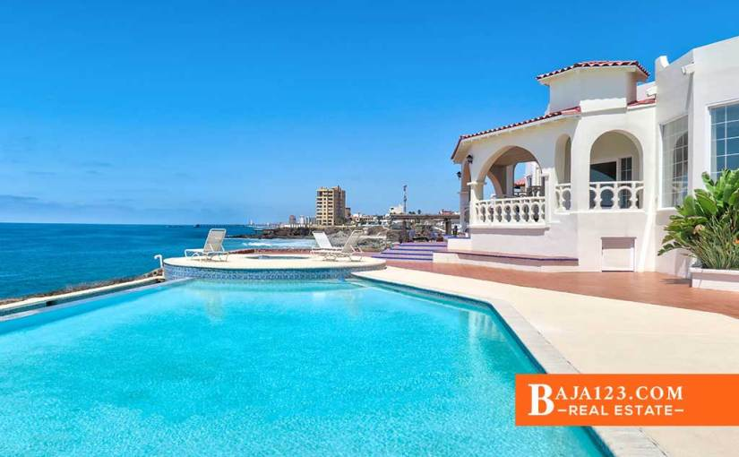 EXPIRED – Oceanfront Home For Sale $1,050,000 USD in Castillos del Mar, Playas de Rosarito