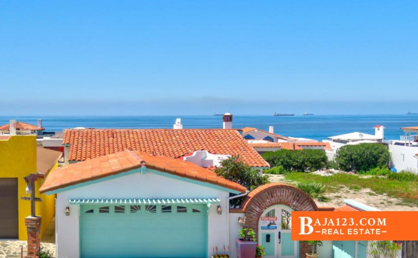 Ocean View Home For Sale in Castillos del Mar, Playas de Rosarito – USD $259,900