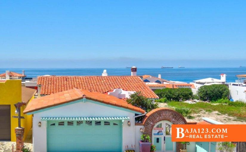 Ocean View Home For Sale in Castillos del Mar, Playas de Rosarito – USD $259,900